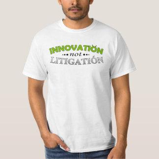 Camiseta del pleito de la innovación NO Poleras