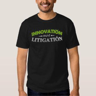 Camiseta del pleito de la innovación NO Remeras