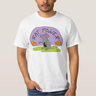 Camiseta del poder de la rata