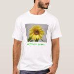 Camiseta del poder del girasol
