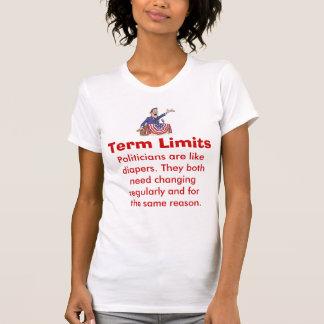Camiseta del político de los límites de mandato