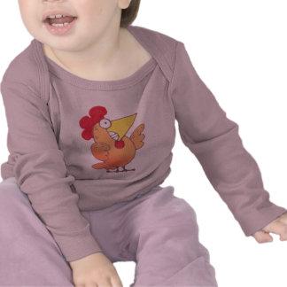 Camiseta del pollo de la camiseta |Cartoon del