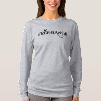 camiseta del pollo de la Libre-gama