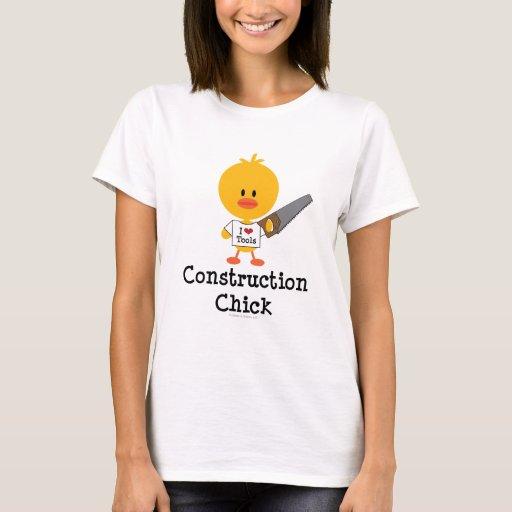 Camiseta del polluelo de la construcción