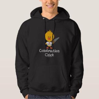 Camiseta del polluelo de la construcción sudadera con capucha