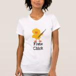 Camiseta del polluelo de la flauta