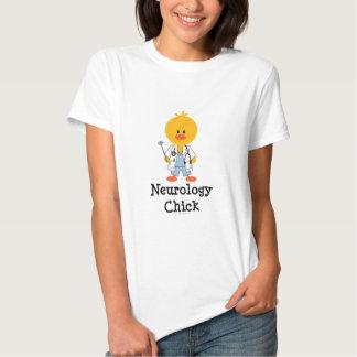 Camiseta del polluelo de la neurología camisas