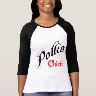 Camiseta del polluelo de la polca