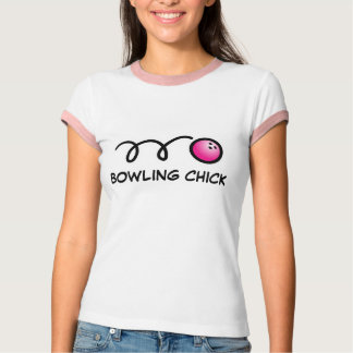 Camiseta del polluelo de los bolos