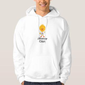 Camiseta del polluelo del abogado sudadera con capucha