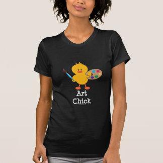 Camiseta del polluelo del arte playeras