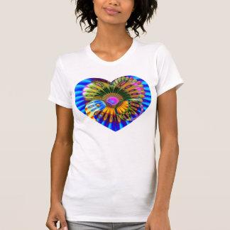 Camiseta del polluelo del Hippie