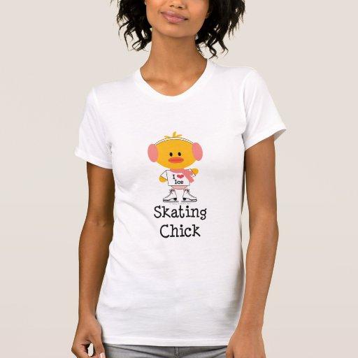 Camiseta del polluelo del patinaje de hielo