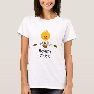 Camiseta del polluelo del Rowing