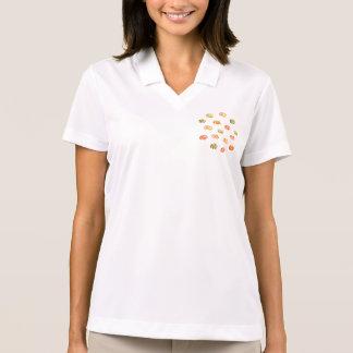 Camiseta del polo de las mujeres de la calabaza