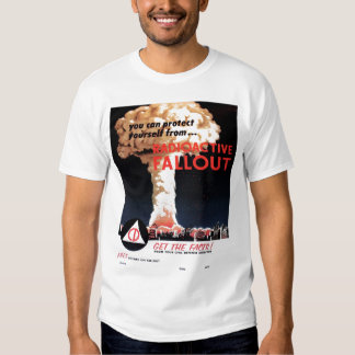 """Camiseta del """"polvillo radiactivo radiactivo"""" camisas"""