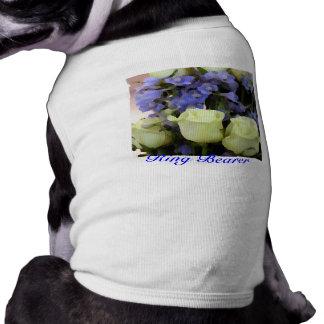 Camiseta del portador de anillo del perrito playera sin mangas para perro