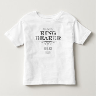 Camiseta del portador de anillo playera de niño