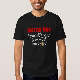 Camiseta del profesor de las vacaciones de verano remera