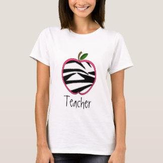 Camiseta del profesor - estampado de zebra Apple
