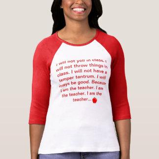 Camiseta del profesor playera