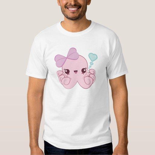 Camiseta del pulpo de Kawaii Poleras