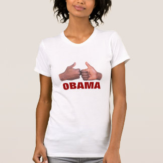 camiseta del puño-topetón de OBAMA de las mujeres