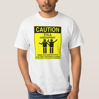 Camiseta del punto de control de la precaución TSA Remeras