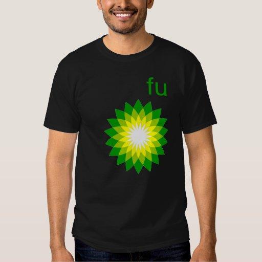 camiseta del punto de ebullición del fu poleras