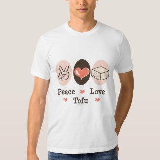 Camiseta del queso de soja del amor de la paz playera