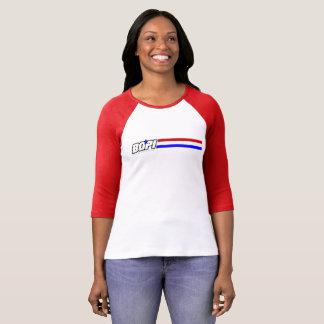 """Camiseta del raglán de 3/4-Sleeve de BOPI """"G.I. Poleras"""