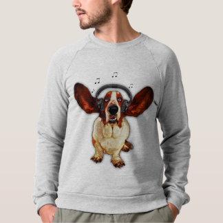 Camiseta del raglán de Basset Hound American Poleras