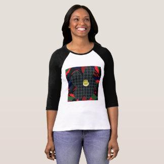Camiseta del raglán de la manga de la magdalena remeras