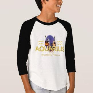 Camiseta del raglán de la manga de los niños del