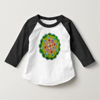 Camiseta del raglán de la manga del niño 3/4 de la playera de bebé