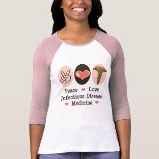 Camiseta del raglán de la medicina de la playeras