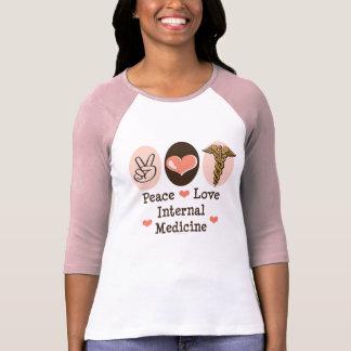 Camiseta del raglán de la medicina interna del