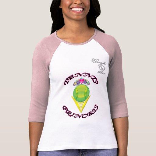 Camiseta del raglán de la princesa 3/4 manga del playeras