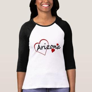 Camiseta del raglán de las señoras de los corazone