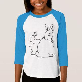 Camiseta del raglán de los chicas blancos de los poleras