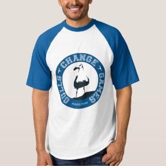 Camiseta del raglán de los hombres de los juegos polera