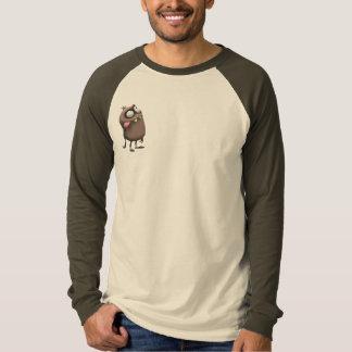Camiseta del raglán de los hombres del punto playeras