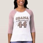 Camiseta del raglán de presidente Obama 44