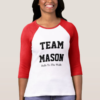 Camiseta del raglán del albañil del equipo playera