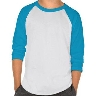 Camiseta del raglán del arte pop playeras