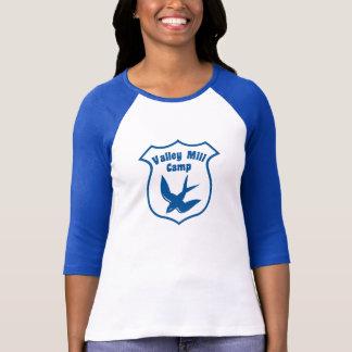Camiseta del raglán del campo de las mujeres playera
