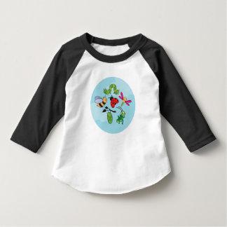 Camiseta del raglán del niño de los Critters de la Camisas