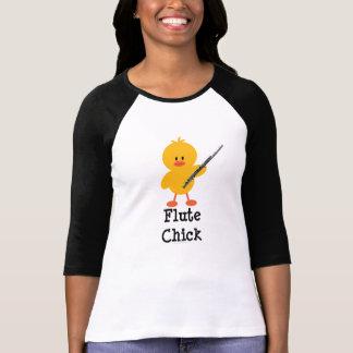 Camiseta del raglán del polluelo de la flauta poleras