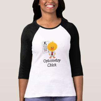 Camiseta del raglán del polluelo de la optometría