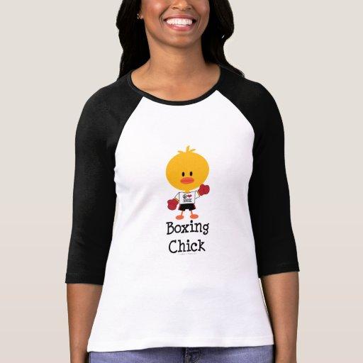 Camiseta del raglán del polluelo del boxeo polera